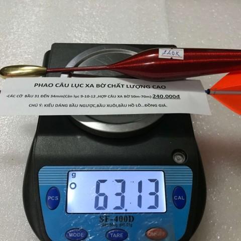 Phao câu lục xa bờ size vừa  31 -34 mm chất lượng cao